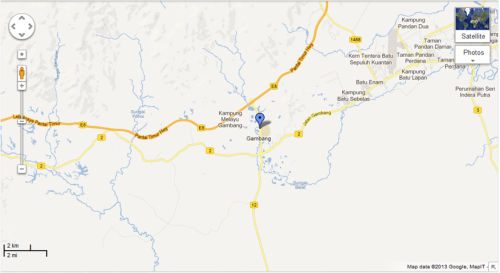location of Gambang Perdana Boutique Homestay
